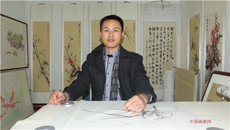 【中国画都网】推荐青年军旅书画家张向上
